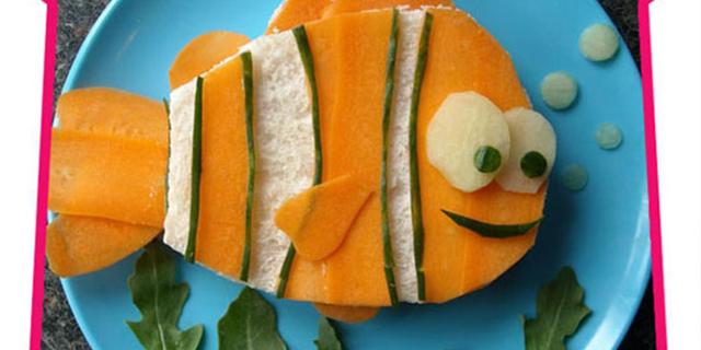 Tėtis, iš maisto kuriantis animacinius herojus savo vaikams