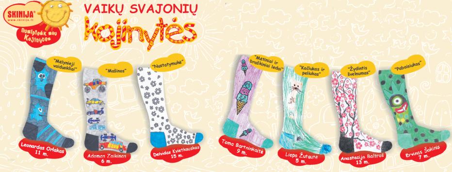 Paaiškėjo, kokia bus 10-oji vaikų pieštų kojinių kolekcija