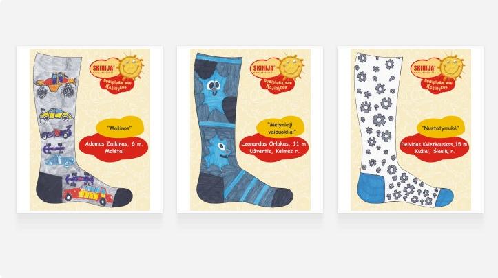 """Prasidėjo 13-asis taikomojo dizaino konkursas vaikams """"Nusipiešk sau kojinytes"""""""